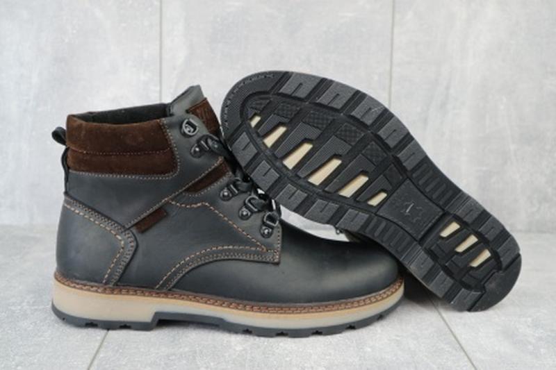 Мужские зимние ботинки из натуральной кожи yuves 779 - Фото 4
