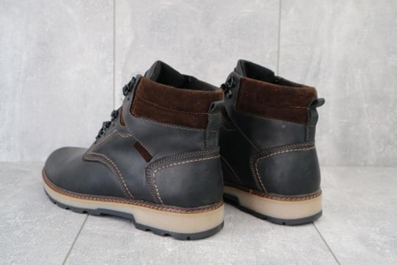Мужские зимние ботинки из натуральной кожи yuves 779 - Фото 5