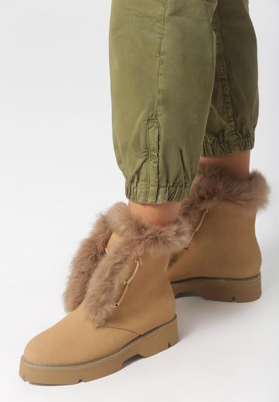 Новые шикарные женские зимние коричневые ботинки - Фото 2