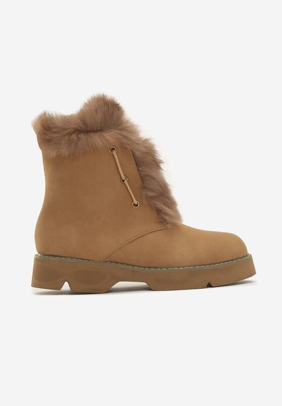 Новые шикарные женские зимние коричневые ботинки - Фото 3