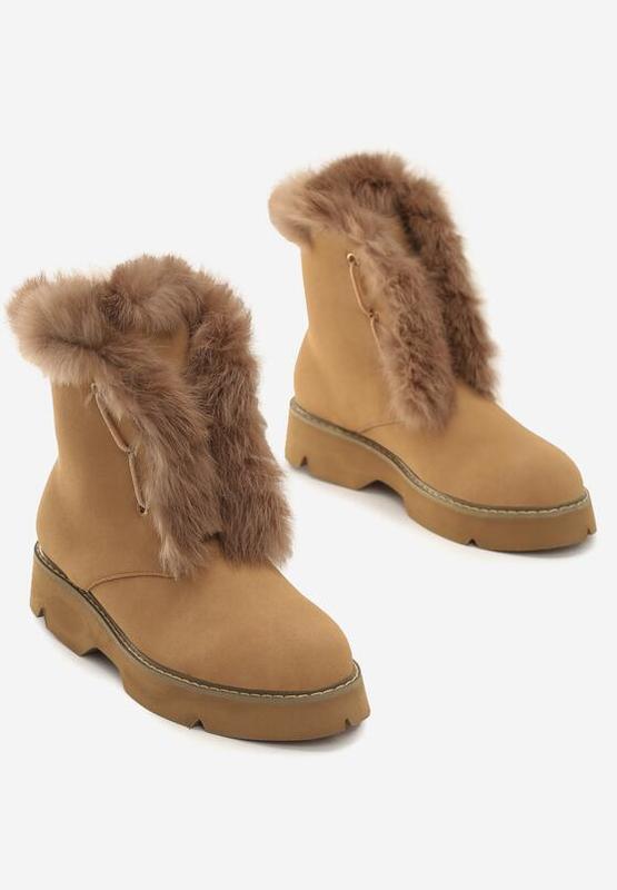 Новые шикарные женские зимние коричневые ботинки - Фото 5