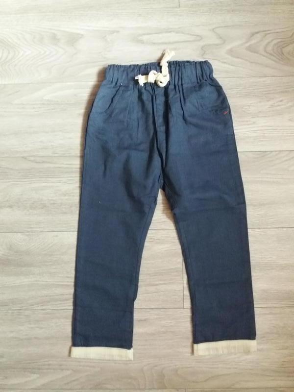 Льняные брюки, штаны тонкие