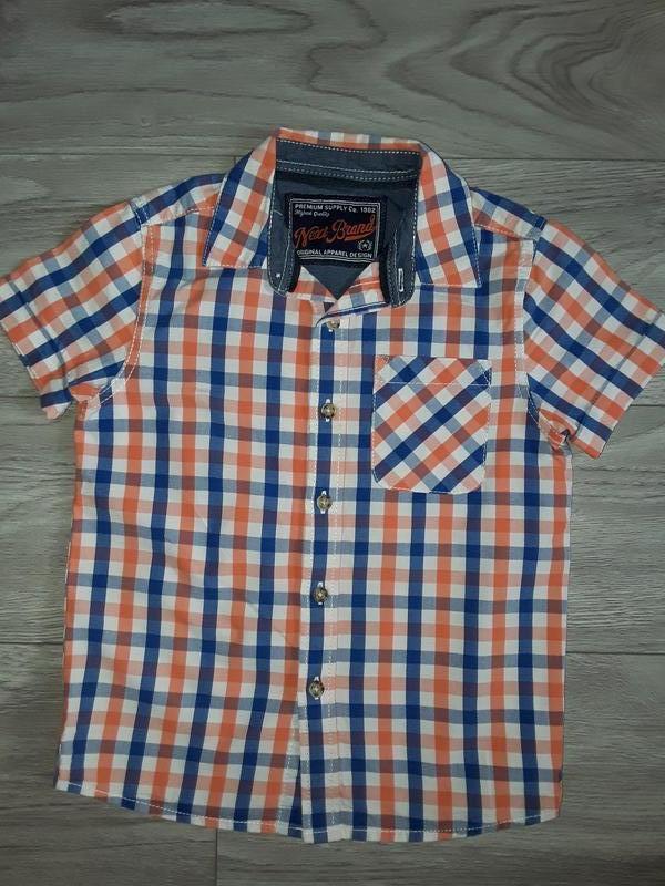 Рубашка next по бирке на рост 110см, 5 лет