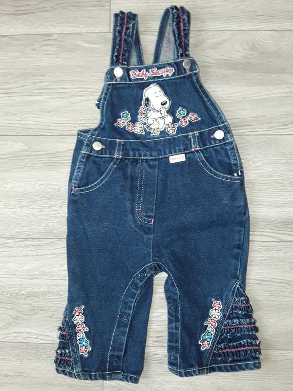 Детский комбинезон на 3-6 месяцев, джинсовый комбез на девочку - Фото 3