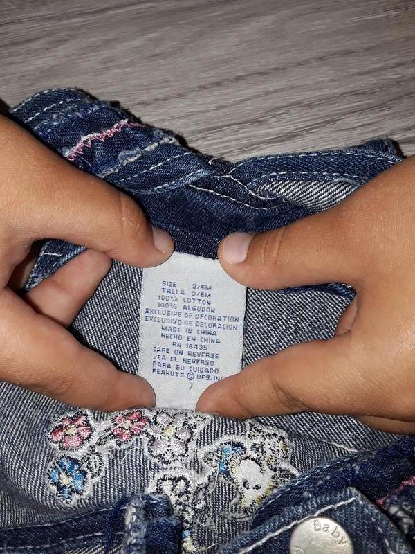 Детский комбинезон на 3-6 месяцев, джинсовый комбез на девочку - Фото 4