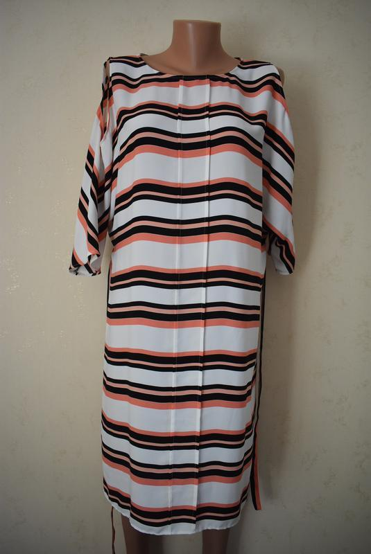 Красивое платье в полоску большого размера f&f