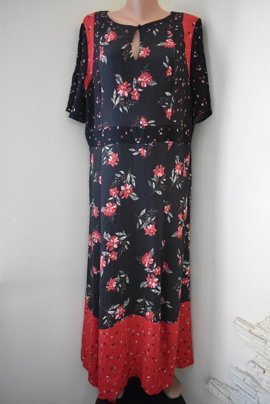 Красивое платье с принтом большого размера monsoon