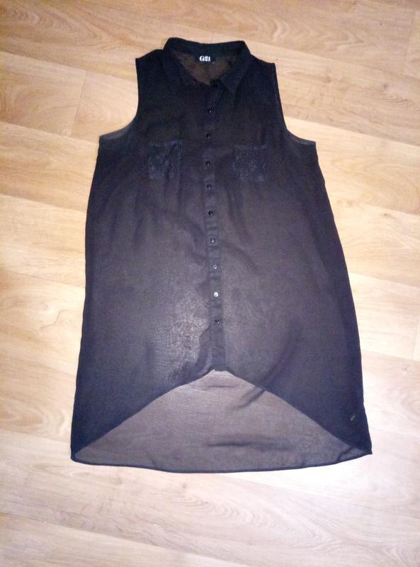 Подарок при покупке 2-х вещей.шифоновая блузка рубашка безрукавка - Фото 2