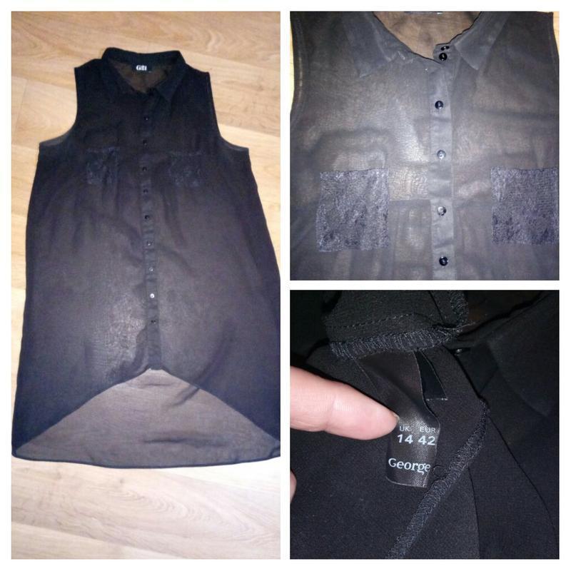Подарок при покупке 2-х вещей.шифоновая блузка рубашка безрукавка