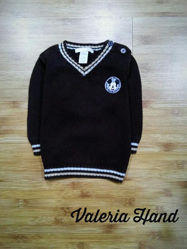 Детский плотный натуральный свитер - джемпер h&m для мальчика ...