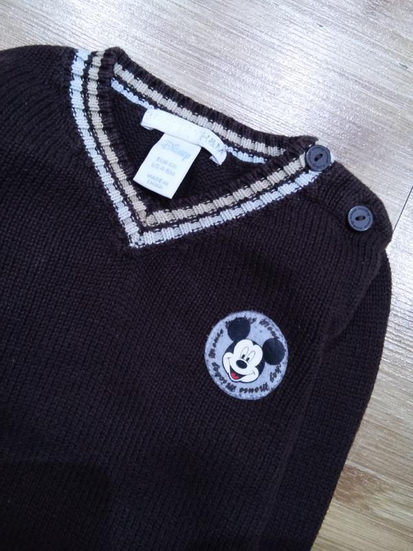 Детский плотный натуральный свитер - джемпер h&m для мальчика ... - Фото 2