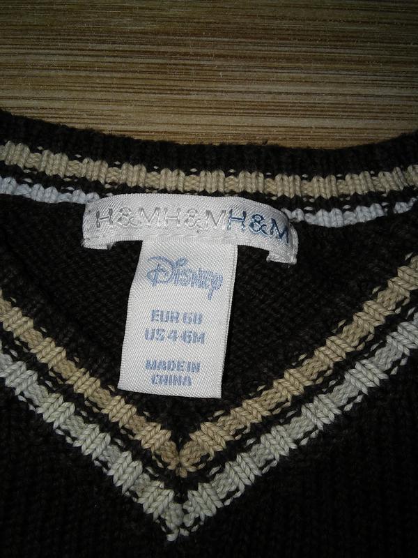 Детский плотный натуральный свитер - джемпер h&m для мальчика ... - Фото 3