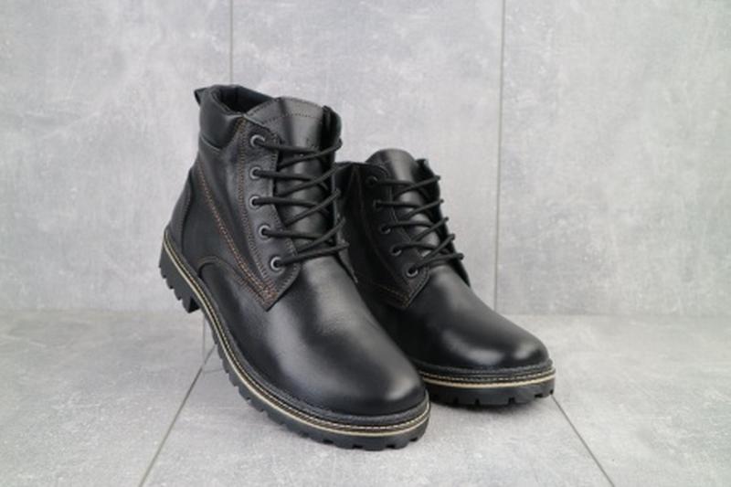 Мужские зимние ботинки из натуральной кожи yuves 444