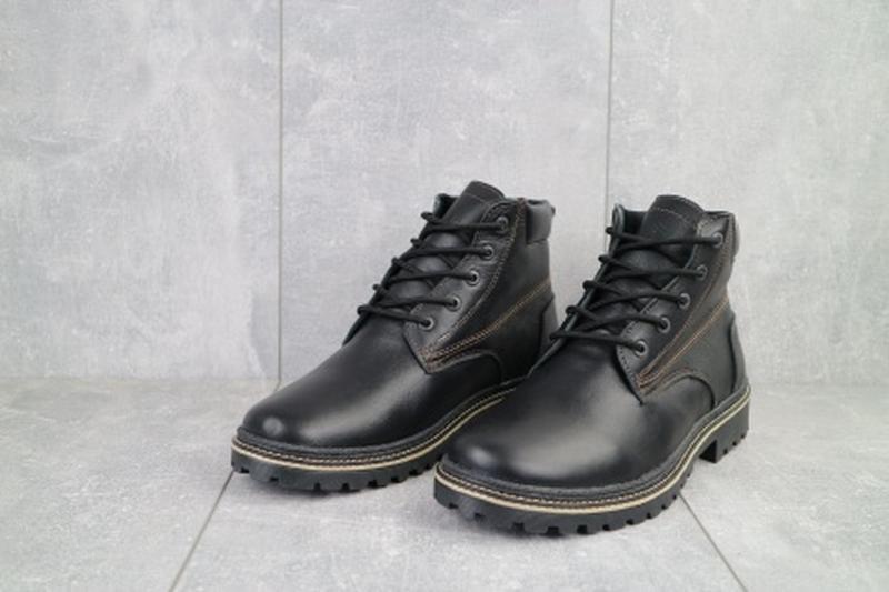 Мужские зимние ботинки из натуральной кожи yuves 444 - Фото 2