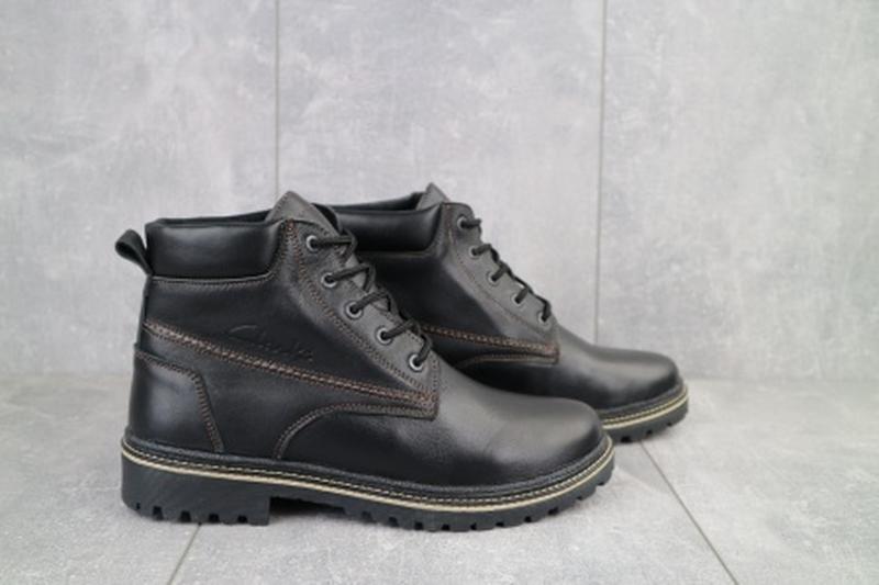 Мужские зимние ботинки из натуральной кожи yuves 444 - Фото 3