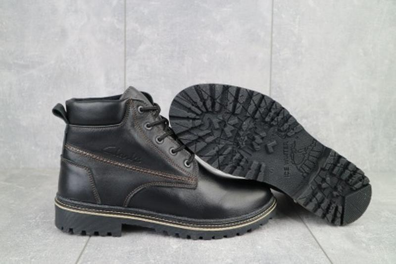 Мужские зимние ботинки из натуральной кожи yuves 444 - Фото 4
