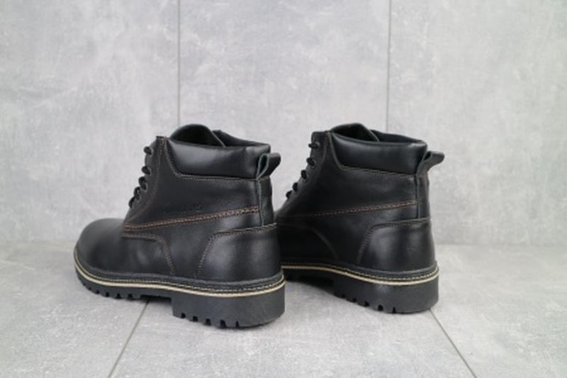 Мужские зимние ботинки из натуральной кожи yuves 444 - Фото 5