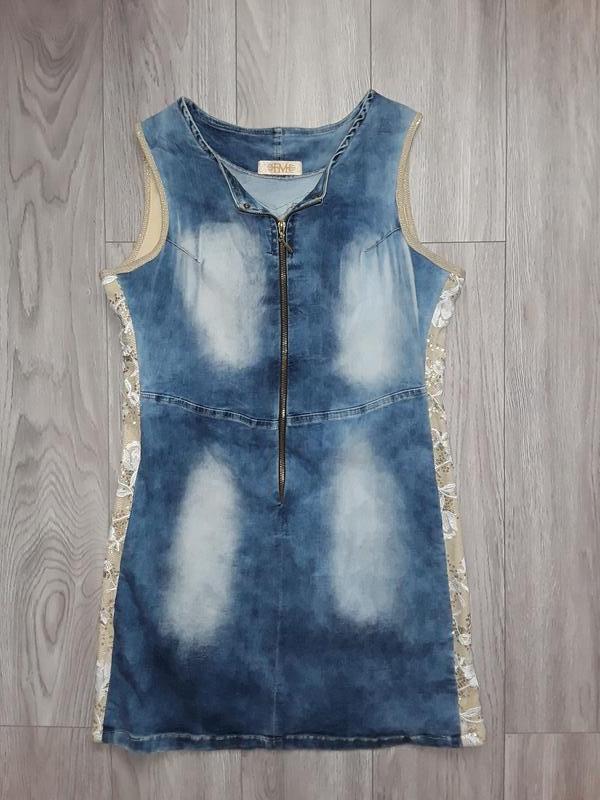 Шикарное джинсовое платье, джинсовый сарафан, турецкое платье