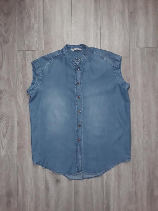 Джинсовая рубашка, блузка mango