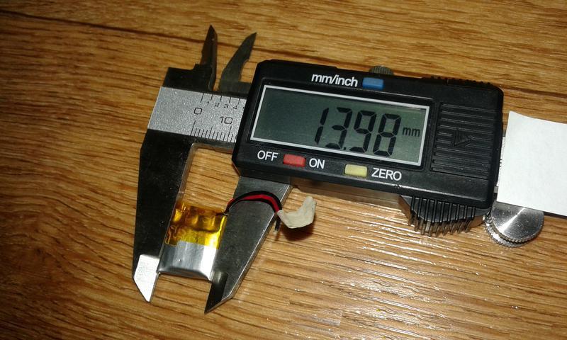 Аккумулятор для блютуз гарнитуры 16.86-13.98-4.28мм 3.7V 150mAh - Фото 3