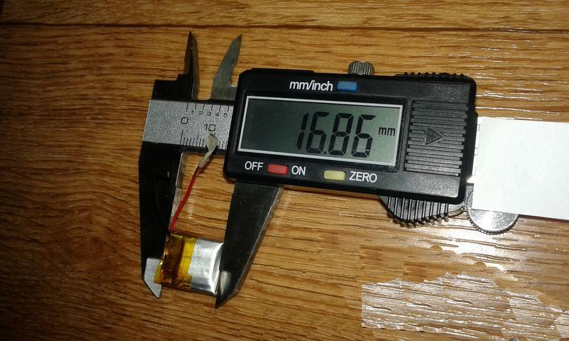 Аккумулятор для блютуз гарнитуры 16.86-13.98-4.28мм 3.7V 150mAh