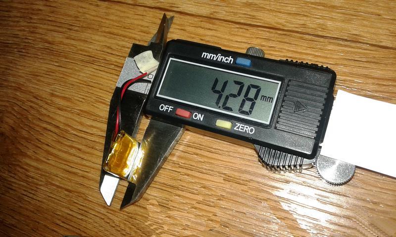 Аккумулятор для блютуз гарнитуры 16.86-13.98-4.28мм 3.7V 150mAh - Фото 2