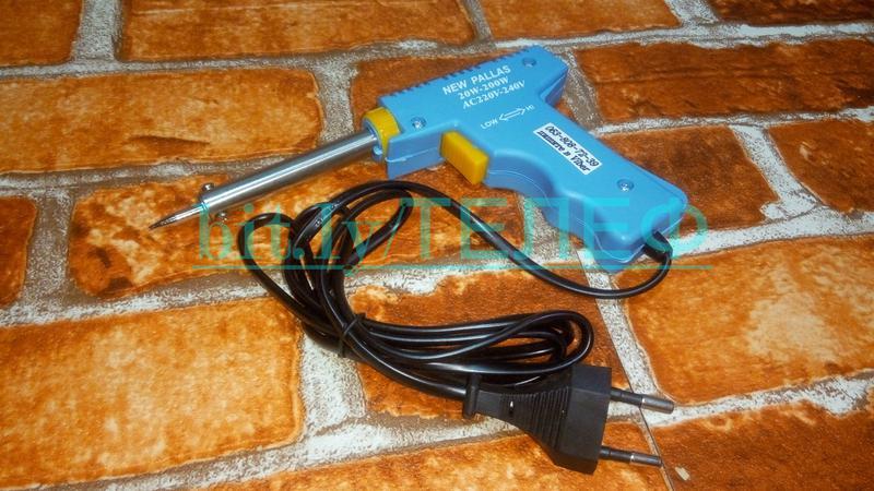 Электрический паяльник-пистолет Импульсный паяльник HS-400 20Вт- - Фото 3