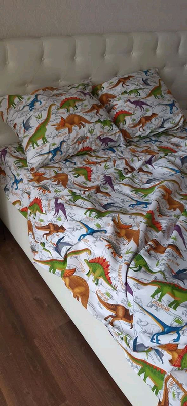Постільна білизна Динозаврики