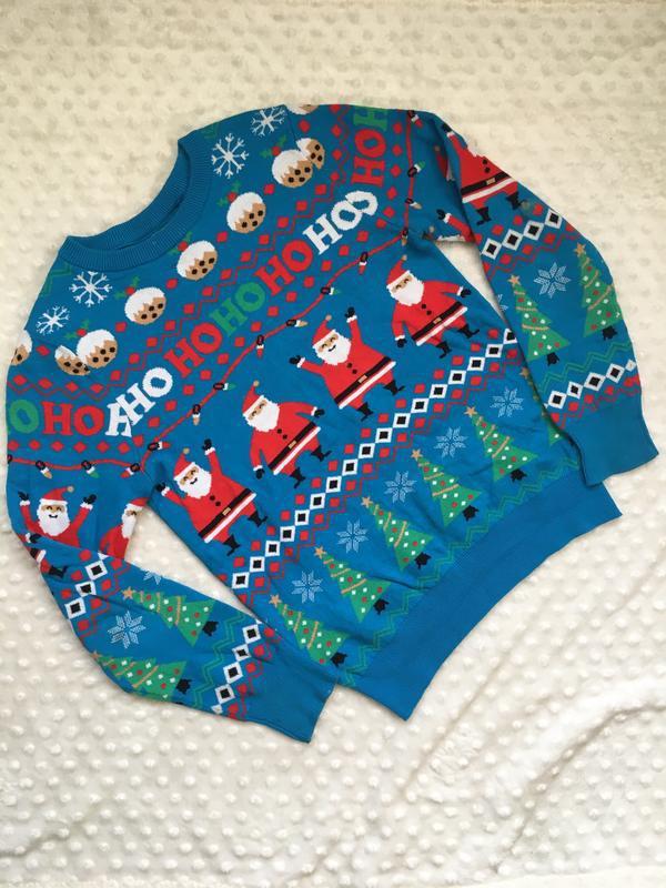 Свитер на новый год, новогодний свитер next, новогодняя кофта