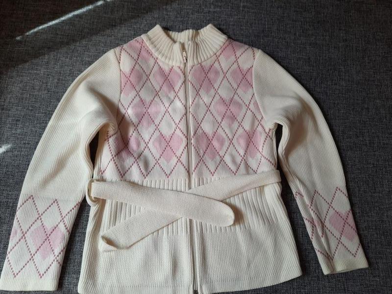 Кофта на молнии кардиган свитер 10-11 лет р.140-146