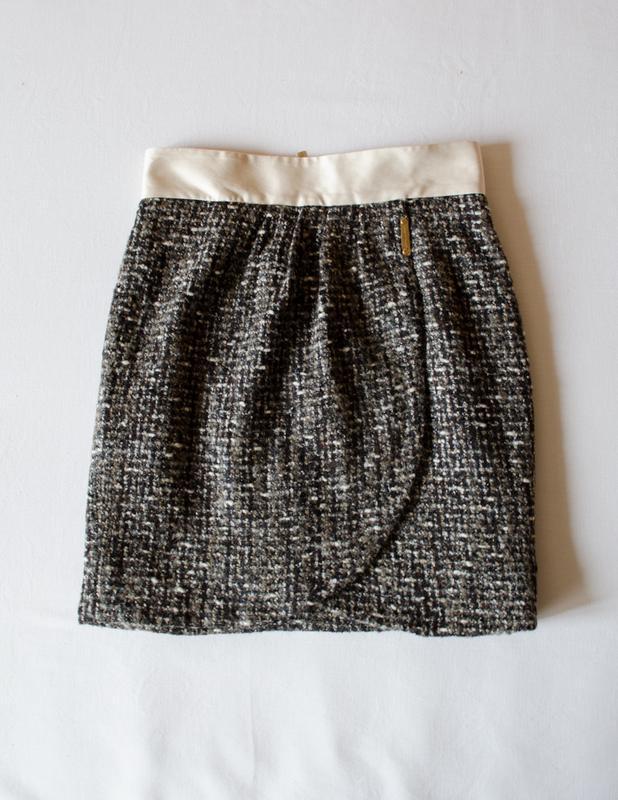 Шикарная шерстяная юбка люксового бренда elisabetta franchi ит...