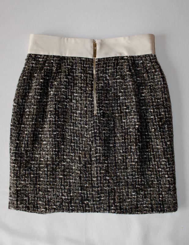 Шикарная шерстяная юбка люксового бренда elisabetta franchi ит... - Фото 2