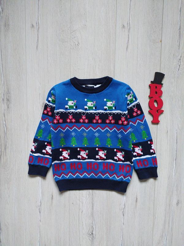 2-3 года, новогодний свитер next.
