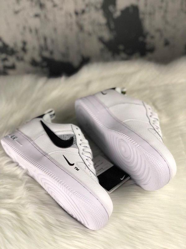 Кроссовки Nike Air Force 1 Utility White. - Фото 4
