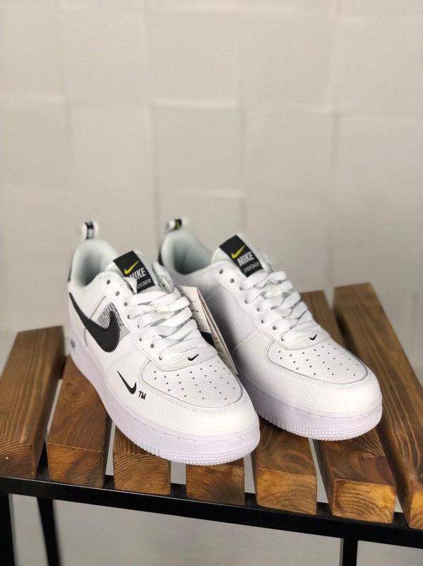 Кроссовки Nike Air Force 1 Utility White. - Фото 6