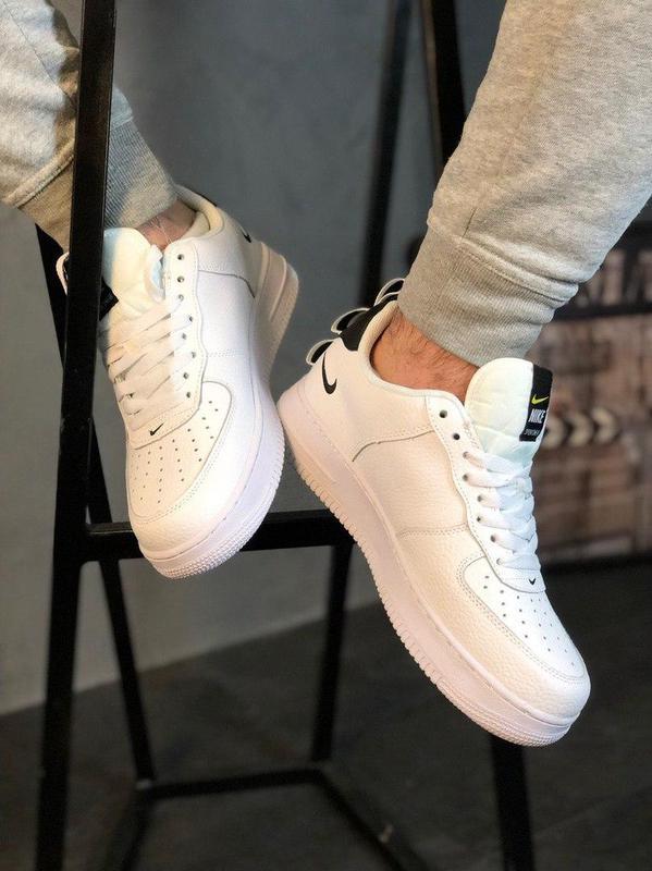 Кроссовки Nike Air Force 1 Utility White. - Фото 7