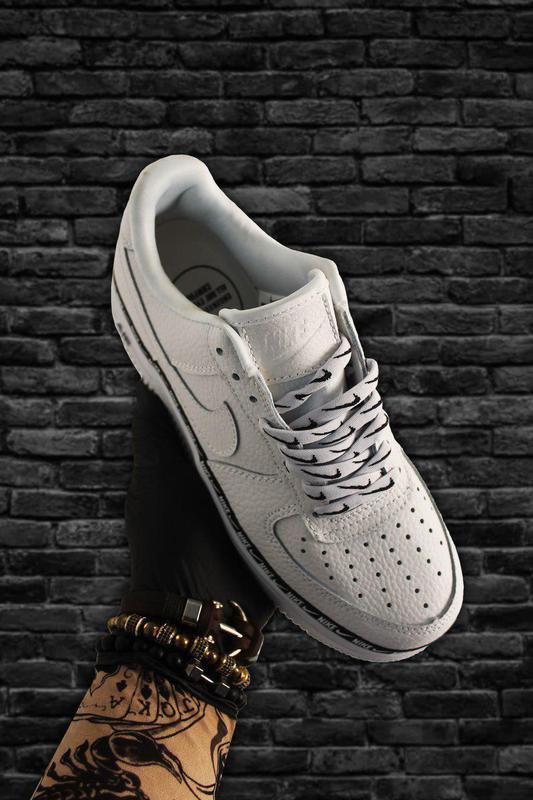 Кроссовки Nike Air Force 1 Low White Black - Фото 2