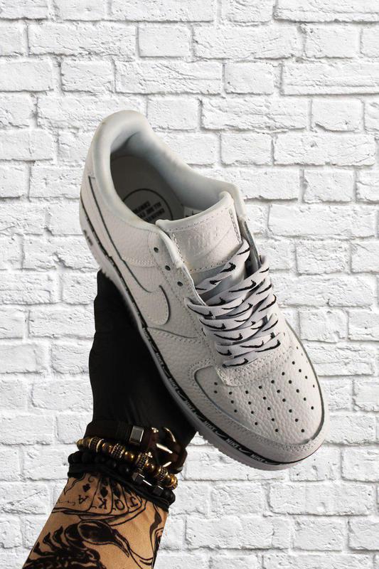 Кроссовки Nike Air Force 1 Low White Black - Фото 5