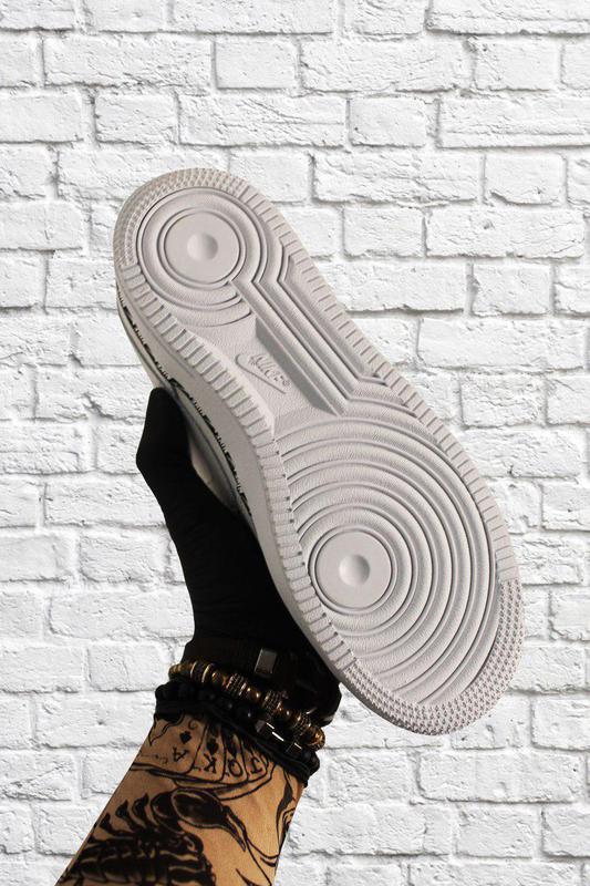 Кроссовки Nike Air Force 1 Low White Black - Фото 8