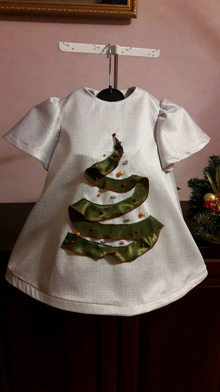 Платье ёлки р.110