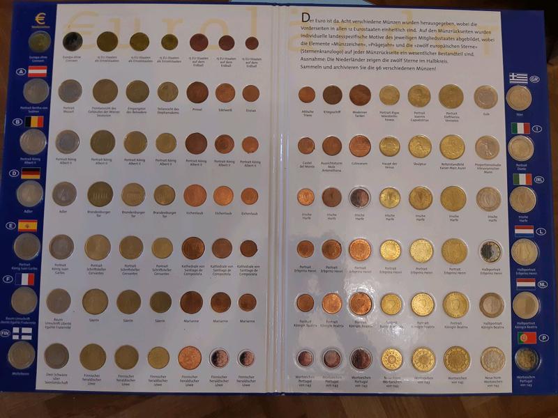 Альбом евро монет и юбилейные 2евро