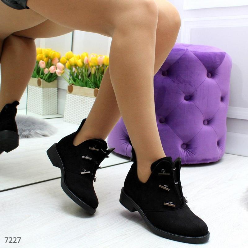 Шикарные дизайнерские замшевые женские туфли осень 2020  код 7227 - Фото 7
