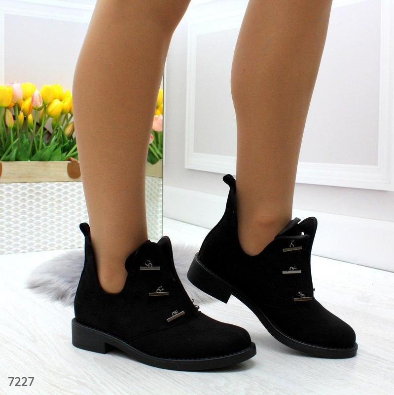 Шикарные дизайнерские замшевые женские туфли осень 2020  код 7227 - Фото 8