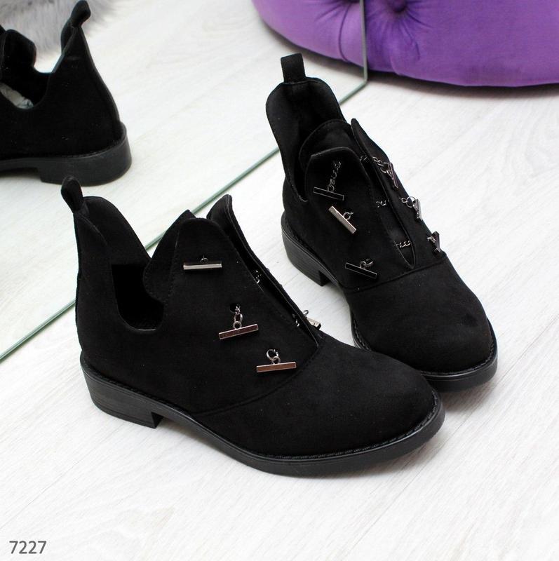 Шикарные дизайнерские замшевые женские туфли осень 2020  код 7227 - Фото 9