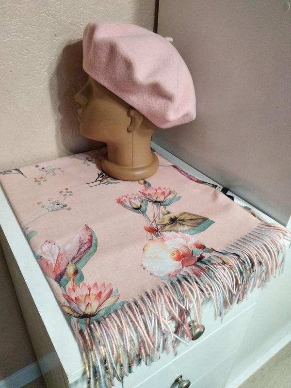 Комплект чешский фетровый берет tonak fezko и шарф палантин
