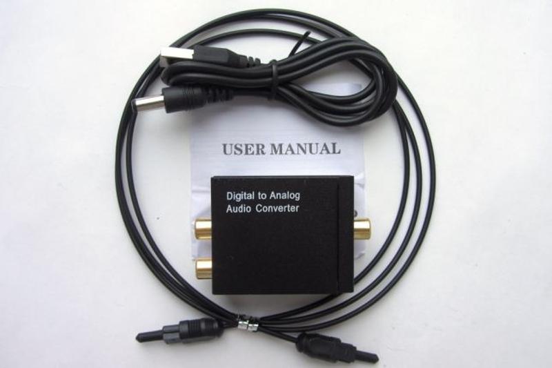 ЦАП оптико-аналоговый аудио преобразователь Toslink SPDIF коаксиа