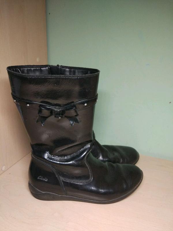 Сапоги ботинки демисезонные clarks кожаные