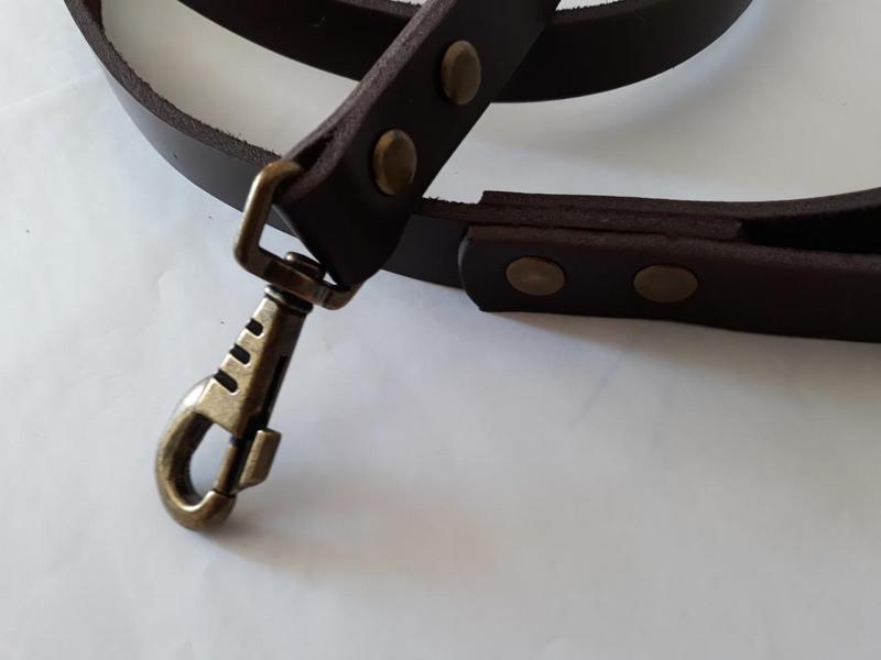 Кожаный поводок для собак  JACK&JACK  1.90 м -20 мм - Фото 3