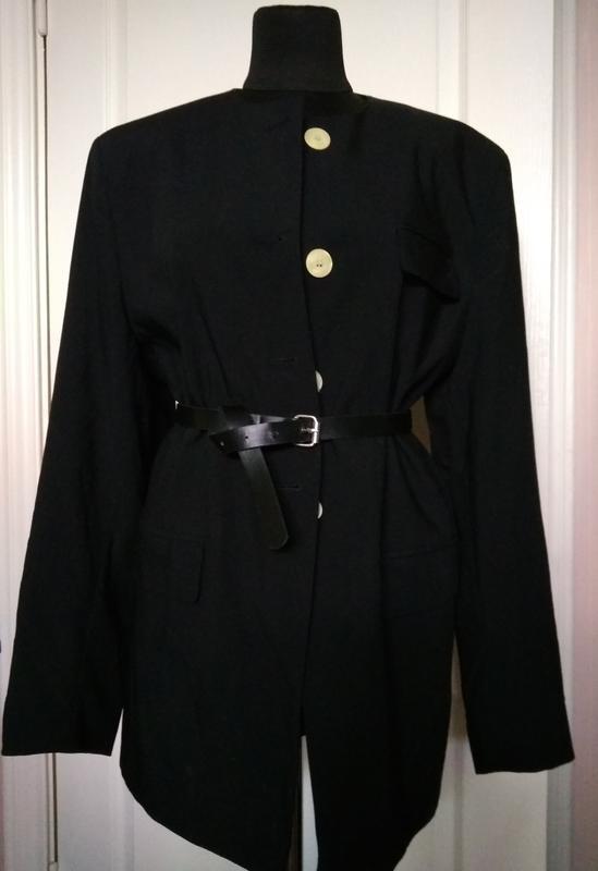 Тёплый уютный  пиджак, кардиган из тонкой шерсти vergine