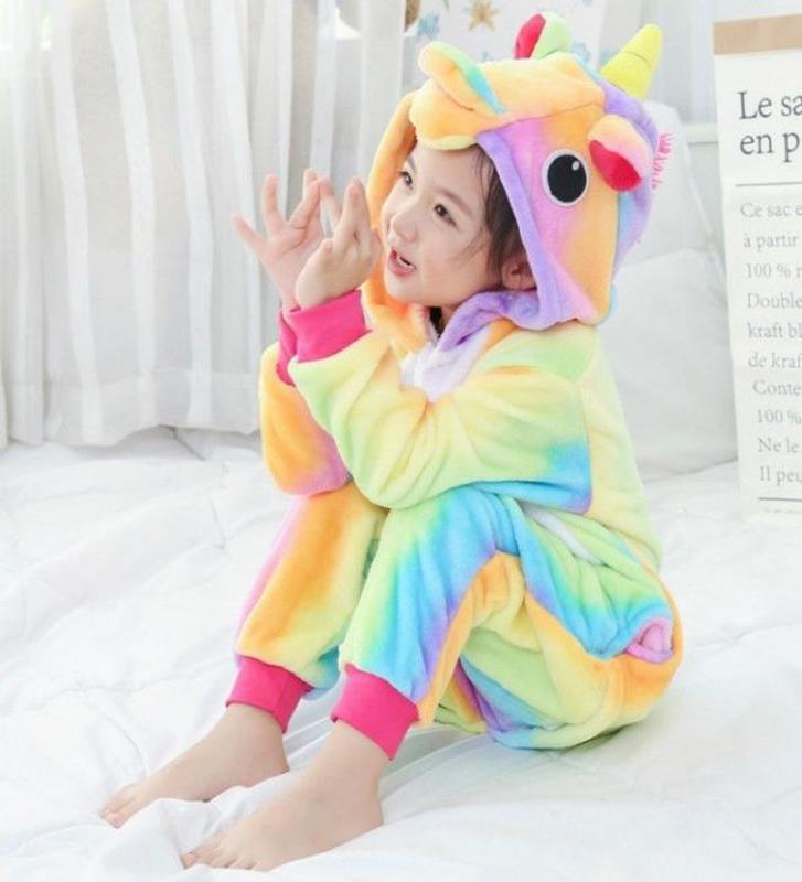 Кигуруми единорожек, панда пижама детская 100см, 110см, 120см,...